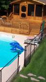 Fence around pool area