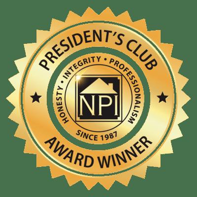 President's Club Award Recipient